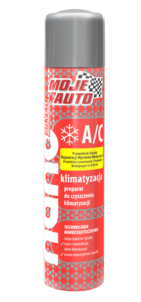 Moje Auto NANO Cleaner for Air-Conditioning Systems - Čistič klimatizace 200 ml