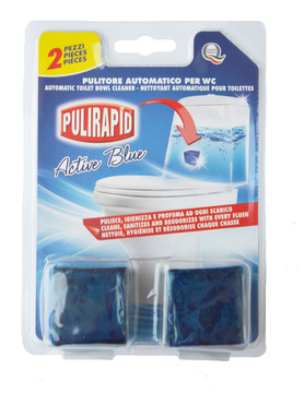 Pulirapid Active Blue - tablety do WC 2x50 g